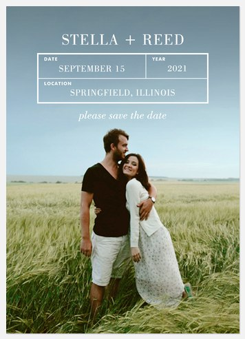 Simple Grid Save the Date Photo Cards