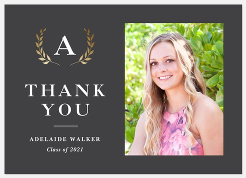 Honorable Laurel Thank You Cards