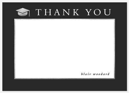 Silver Cap Thank You Cards