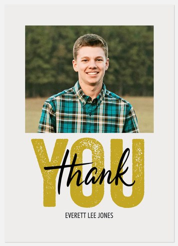 Stenciled Gratitude Thank You Cards