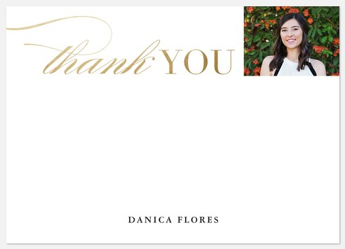 Bright Flourish Thank You Cards