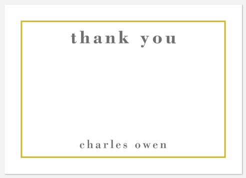 Bright Frame Thank You Cards