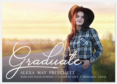 Stylish Graduate Graduation Cards