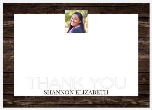 Rustic Border Thank You Cards