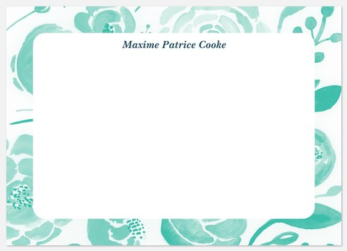 Painted Florals Thank You Cards