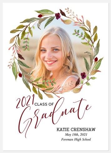 Boho Floral Graduation Cards