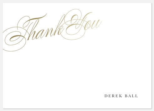 Elegant Calligraphy Thank You Cards