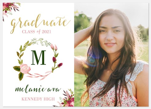 Painted Wreath Graduation Cards