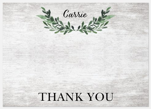 Laurel Leaves Thank You Cards