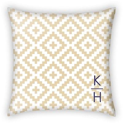 Ikat Initial Custom Pillows