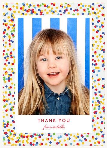 Circus Confetti Birthday Thank You Cards