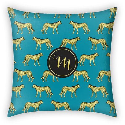 Wild Monogram Custom Pillows