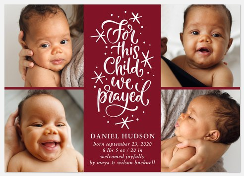 Answered Prayers Holiday Photo Cards