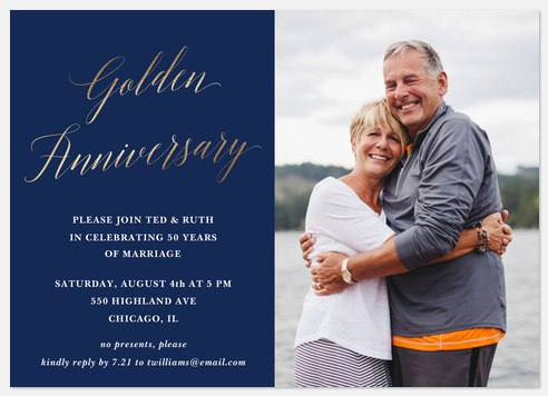 Golden Anniversary Anniversary Invitations