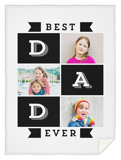 Best Dad Ever Custom Blankets