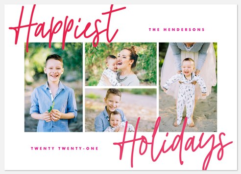 Happiest Greetings Holiday Photo Cards