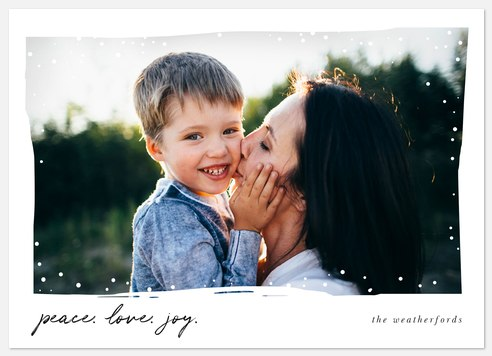 Snow Day Holiday Photo Cards