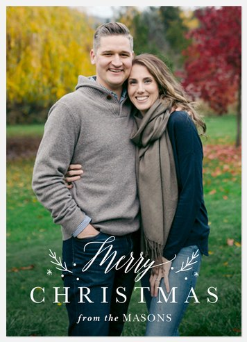 Christmas Posy Holiday Photo Cards