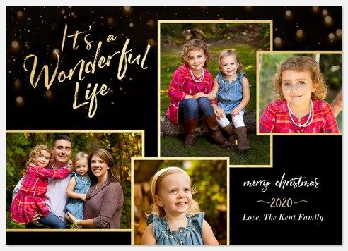 Christmas Bokeh Holiday Photo Cards