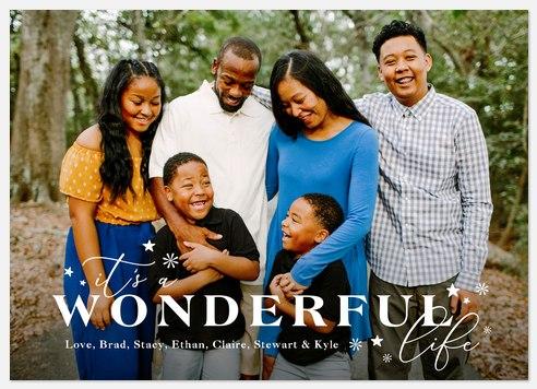 Wonderful Stars Holiday Photo Cards