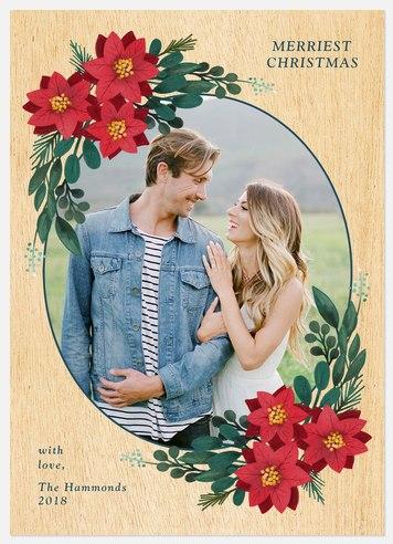 Poinsettias Frame