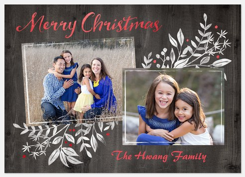 Frosted Boughs Holiday Photo Cards