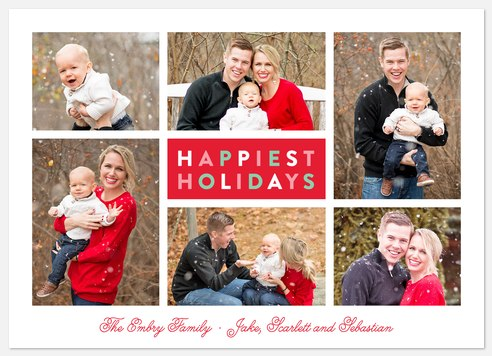 Gumdrop Charm Holiday Photo Cards