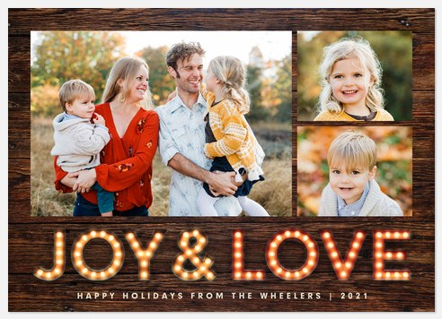 Marquee Love Holiday Photo Cards