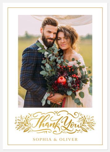 Botanical Thank You Thank You Cards