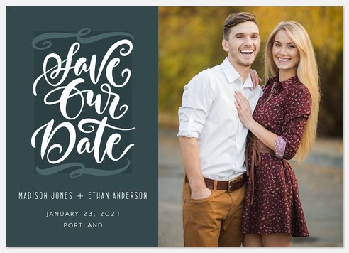 Whimsical Statement  Save the Date Photo Cards