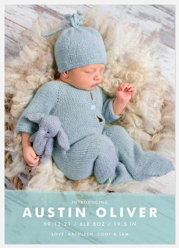 Truest Joy Baby Birth Announcements
