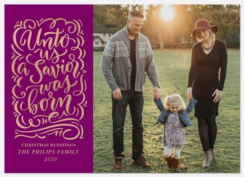 Gilded Flourish Holiday Photo Cards