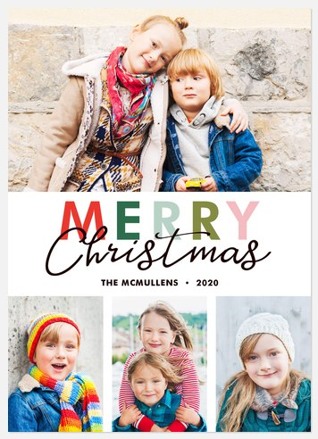 Candyland Cheer Holiday Photo Cards
