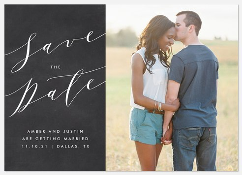 Lovely Script Save the Date Photo Cards