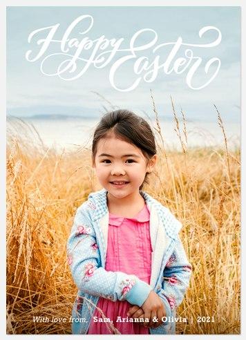 Springtime Greeting Easter Photo Cards