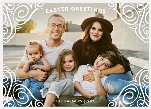 Decorated Greetings Easter Photo Cards