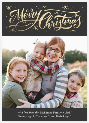 Merry Cursive Holiday Photo Cards