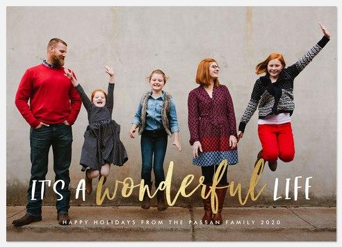 It's Wonderful Holiday Photo Cards