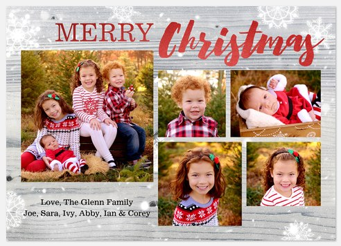 Typewritten Flurry Holiday Photo Cards