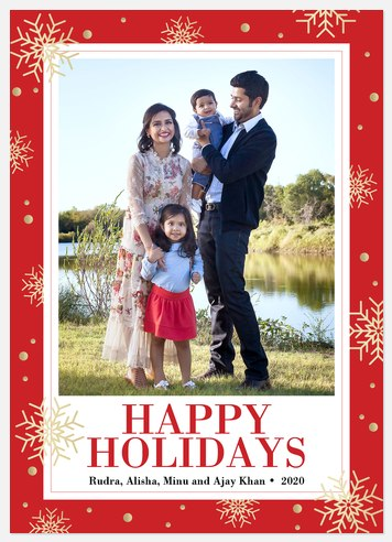 Golden Days Holiday Photo Cards
