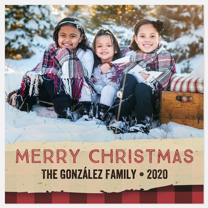 Flannel & Kraft Holiday Photo Cards