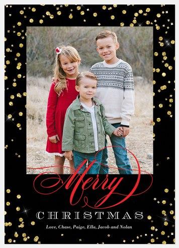 Sparkling Cider Holiday Photo Cards