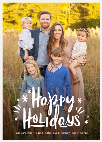 Brushed Radiance Holiday Photo Cards