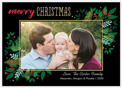 Leaves So Green Holiday Photo Cards