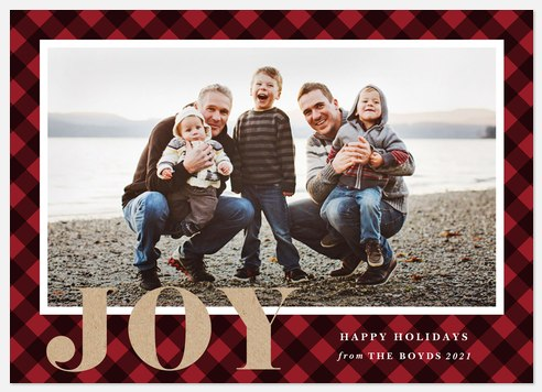 Cozy Fireside Holiday Photo Cards
