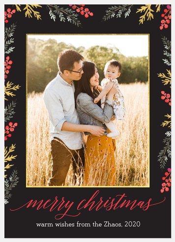 Winter's Bounty Holiday Photo Cards