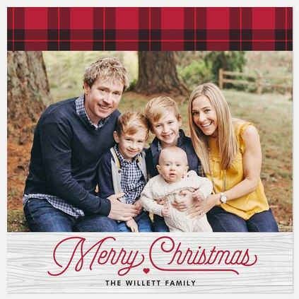 Country Chic Holiday Photo Cards