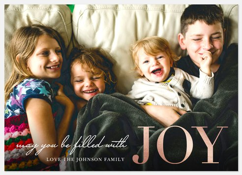 Filled with Joy Holiday Photo Cards
