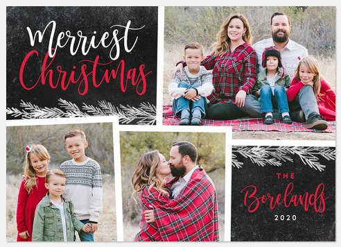 Chalkboard Cedar Holiday Photo Cards