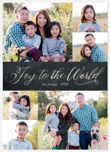 Colonial Joy Holiday Photo Cards